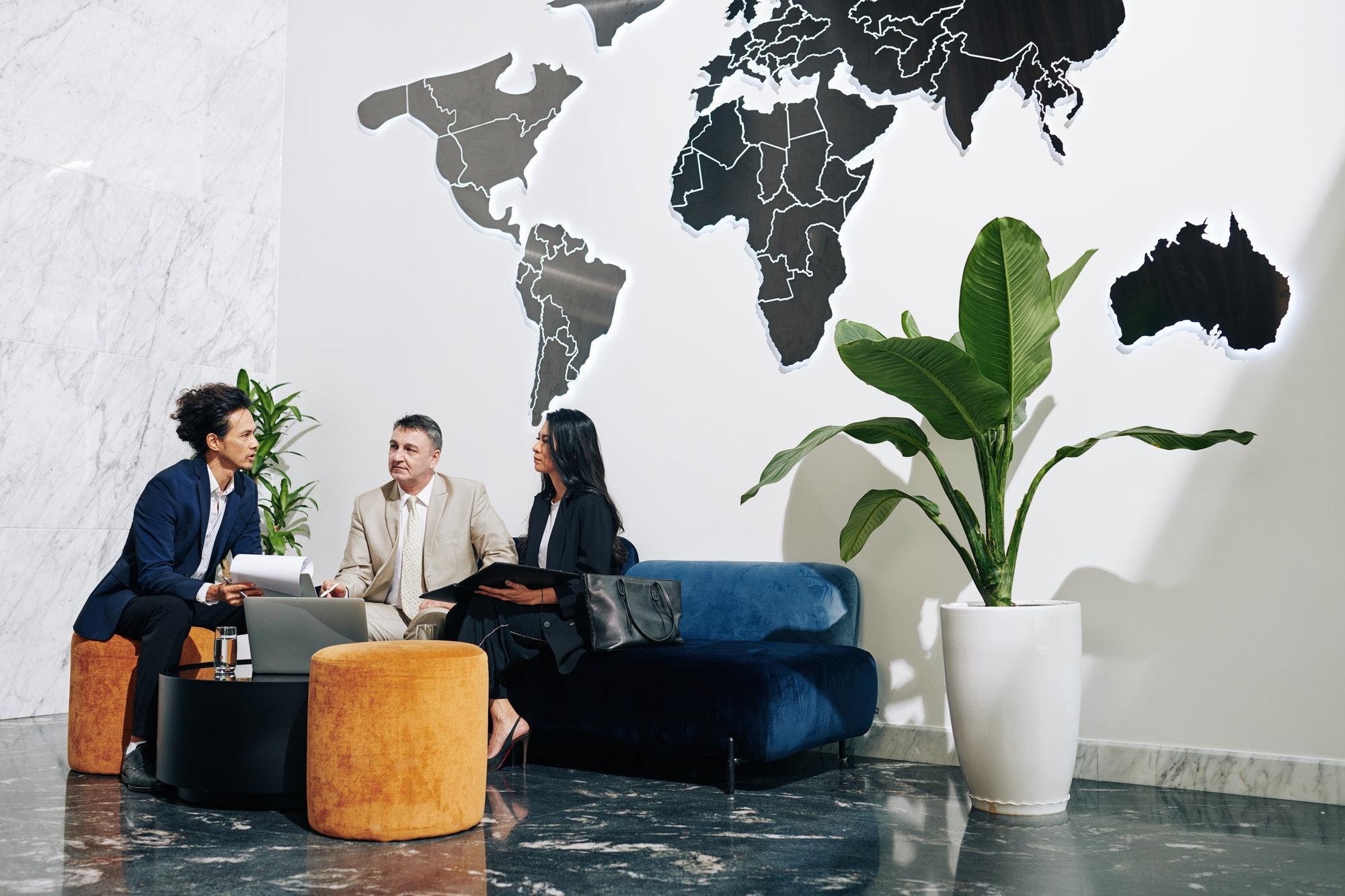 People meeting in modern